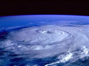 View of a hurricane from outer space