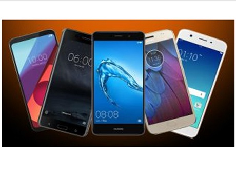 Five different smartphones