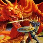 Dungeons and Dragons game photo Knight fighting a dragon