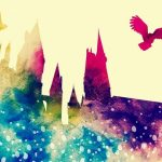 Colorful Hogwarts and owl profiles