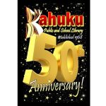 Kahuku Library's 50th anniversary logo