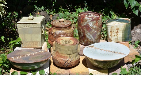 Assortment of clay containers
