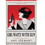 Book cover featuring woman in profile with bobbed hair and a gun against newspaper-style background