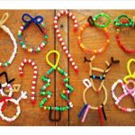 Pipe cleaner Christmas ornaments