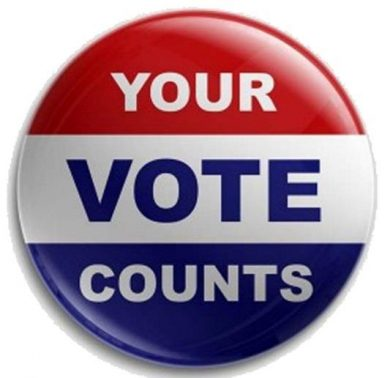 Button with text Your Vote Counts