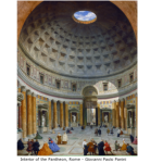 Interior od teh Pantheon, Romy by Giovanni Paolo Panini