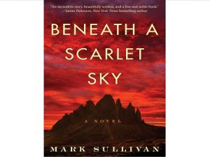 Book cover for Beneath a Scarlet Sky