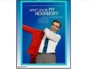 film poster with Mr. Rogers in the center with title above