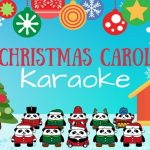 Christmas Carol Karaoke Panda Bear Carolers Outside Library in the Snow