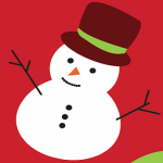 snowman with christmas colors