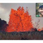 photo of Kilauea erupting
