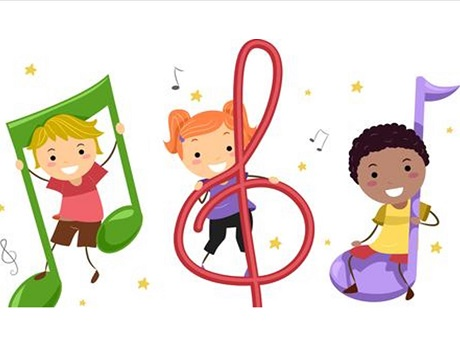 Music Notes clip art for Kindermusik event.