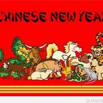 animals and chinese new year banner