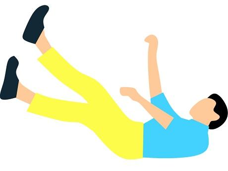 Illustration of man falling