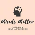 logo for minds matter teen mental health art exhibit