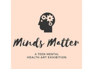 logo for minds matter teen mental health art exhibit