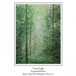 "Pastel drawing ""Forest Light"" by Michael Nakama"