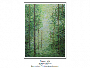 """Pastel drawing """"Forest Light"""" by Michael Nakama"""