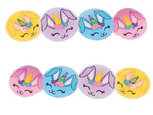8 Bunny unicorn faces