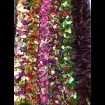 photo of flower lei