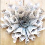 Photo of book wreath craft