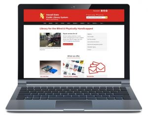 New LBPH website on laptop screen