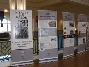 Loyalty & Valor photo display on Filipino veterans at Kapolei Public Library