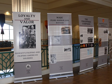 Loyalty & Valor photo display on Filipino veterans at Kapolei Public Library