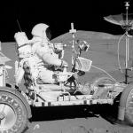 Apollo 15 Moon Rover and Astronaut
