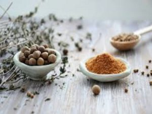 Spices on Grey Table