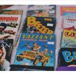 display of comic books