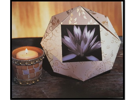Origami picture frame with lotus photo