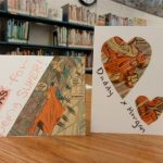 handmade cards with comic book collage art