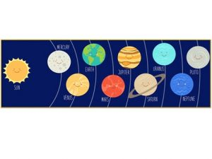 Planets in solar system, kawaii