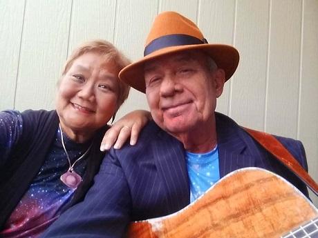 Storyteller Nyla Fujii-Babb and musician Jeff Babb