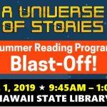 2019 Summer Reading Program Blast-off event logo