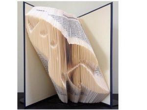 Book folding into rocket