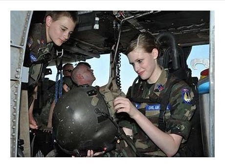 teens receiving civil air patrol training