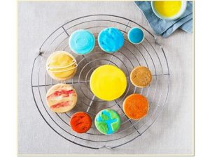 cookies with solar system decorations