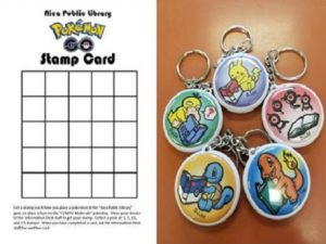 pokemon go stamp card keychains