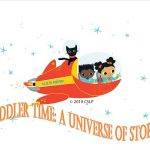 Orange rocket ship piloted by two keiki and a cat
