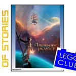 Treasure Planet poster with 2019 Universe of Stories logo on the left and Lego Club logo on the right