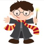 Harry Potter Clip Art with Wand