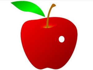 Apple with Hole Clip Art