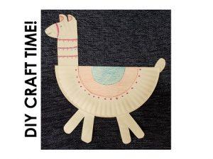 Paper plate llama example