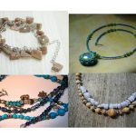 Collage of beaded jewelry