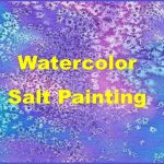 Watercolor salt painting image