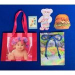 color image of gift bag and tags