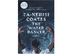 Book cover featuring man under the surface of the water