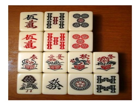 Mahjong game pieces